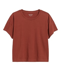 SUPIMA® Cotton Boxy Cropped T-Shirt