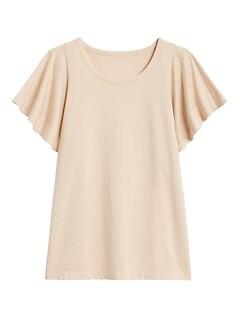 SUPIMA® Cotton Flutter-Sleeve Top
