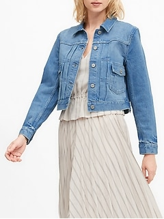 Petite Cropped Denim Jacket