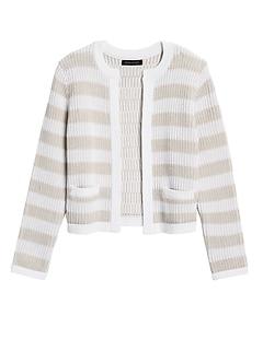 Petite Jacquard Sweater Jacket