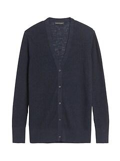 Petite Linen-Blend Long Cardigan Sweater