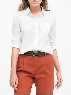 Quinn Straight-Fit Cotton-Linen Shirt