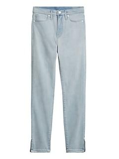 Petite High-Rise Skinny Jean with Split Hem