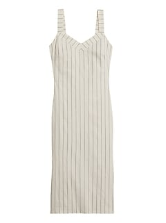 Stripe Strappy Sheath Dress