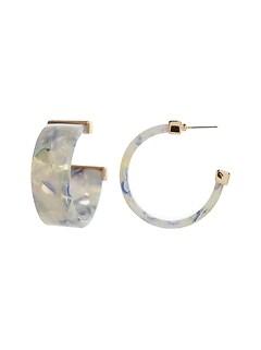 Wide Resin Hoop Earrings