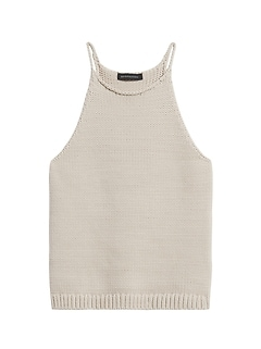 Camisole en tricot à encolure bain-de-soleil, Petite