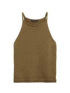 Halter-Neck Sweater Tank