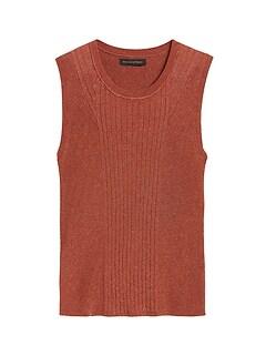 Metallic Sweater Tank