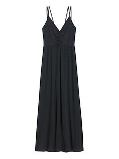 Strappy Ruched Maxi Dress