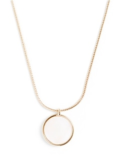 Mother of Pearl Round Necklace
