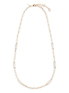 Shell Station Long Necklace