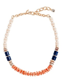 Multi Coral Beaded Necklace