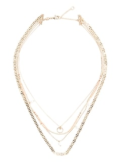 Mother of Pearl Layer Necklace