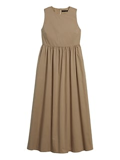 Poplin Maxi Dress