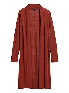 Petite Linen-Blend Duster Cardigan Sweater