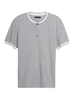 Luxury-Touch Henley T-Shirt