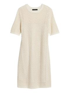 Pointelle Knit Dress