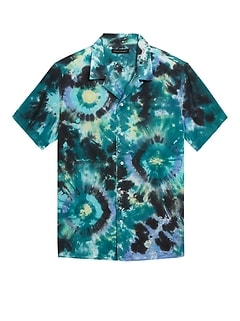 Slim Tie-Dye Resort Shirt