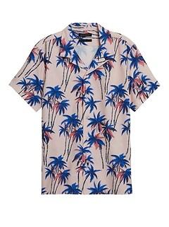 Slim Perforated Resort Shirt
