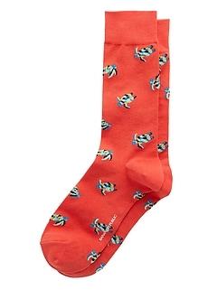 Chaussettes à motifs de tortues de mer