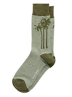 Chaussettes à rayures et à motifs de palmiers