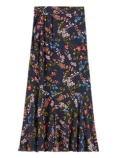 Petite Long Midi Wrap Skirt