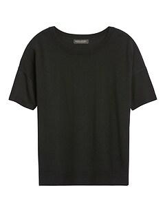 Washable Merino Short-Sleeve Sweater