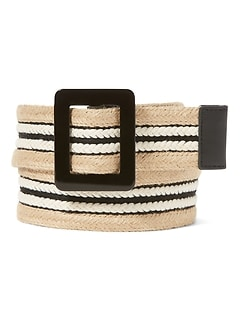 Striped Webb Slider Belt