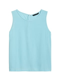 Cropped ECOVERO™ Button-Back Tank