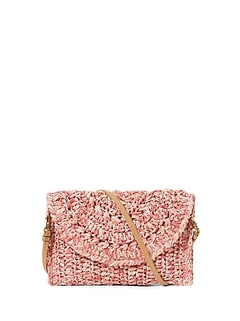 Straw Crossbody Clutch