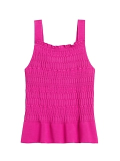 Smocked Sweater Tank