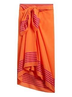 Bordered Stripe Sarong