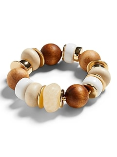 Bracelet extensible à larges perles