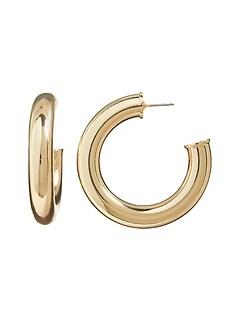 Chunky Round Hoop Earrings