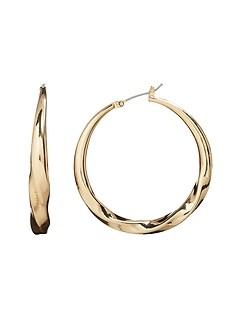 Twisted Metal Hoop Earrings