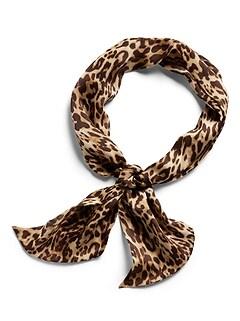 Foulard cache-nez à motif léopard