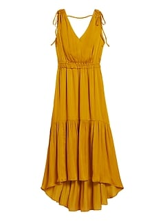 Satin Ruched Maxi Dress