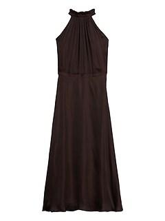 Soft Satin Midi Dress