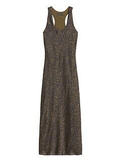 Petite Leopard Print Satin Slip Dress