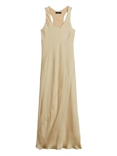 Petite Satin Slip Dress