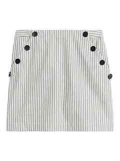 Petite Bi-Stretch Sailor Mini Skirt