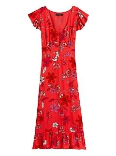 ECOVERO™ Button-Front Midi Dress