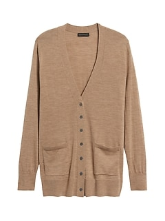 Responsible Merino Long Cardigan Sweater