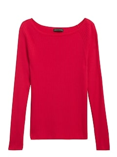 Petite Boat-Neck Sweater Top