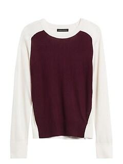 Washable Merino Color-Block Sweater