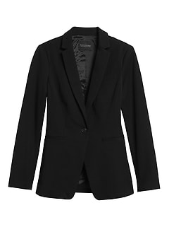 Long & Lean-Fit Washable Bi-Stretch Blazer