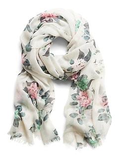 Écharpe très fine à fleurs