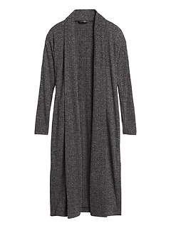 Ribbed Lightweight Duster Cardigan