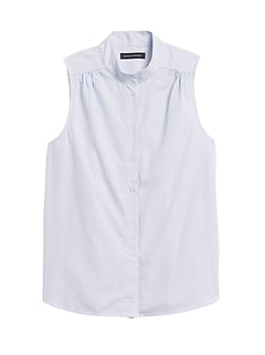 Poplin Sleeveless Shirt