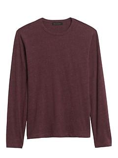 T-shirt à manches longues en coton biologique au fini soyeux